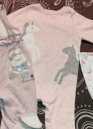 Продам лот одежды для новорожденной девочки от 0 до 3 месяцев.