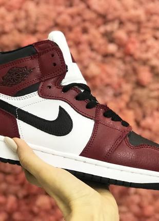 Женские зимние кроссовки на меху Nike air jordan
