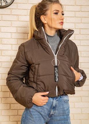 Куртка женская укороченная  цвет хаки