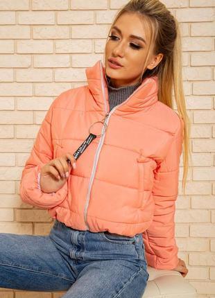 Куртка женская укороченная цвет розовый