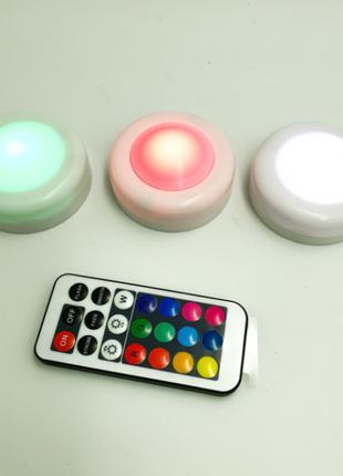 LED Светодиодные фонари Лампы для дома 3 шт с пультом