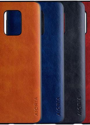 Кожаный чехол AIORIA Vintage для Xiaomi Redmi Note 9s / Note 9 Pr