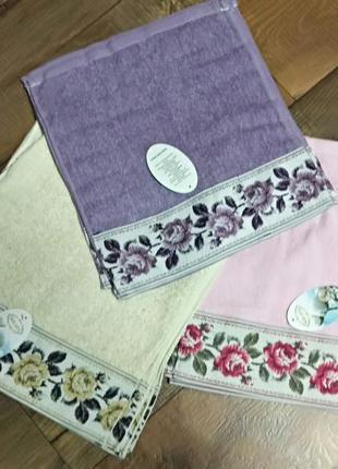 Полотенце рушник котон хлопок цветы розы для кухни
