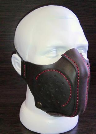 Кожаная маска со сменным фильтром