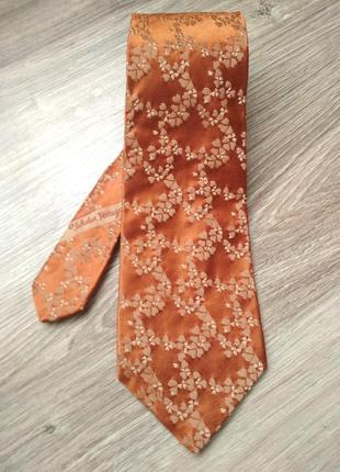 Винтажный шелковый галстук