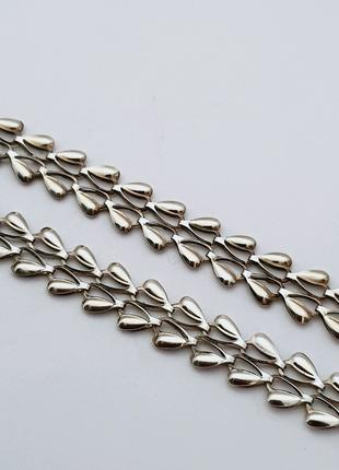 Серебряная цепь, колье 50 см.