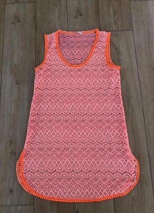 Накидка на купальник, пляжное платье verdissima