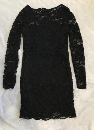 Чёрное кружевное платье 🖤