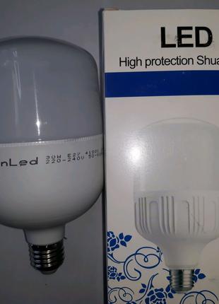Лампа светодиодная 30вт,лед лампочка,LED,белый свет цвет,Е27,30 в