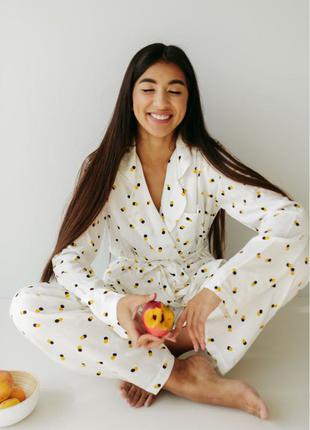 Пижама на запах домашний костюм