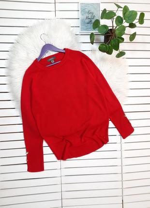 Красный свитер джемпер primark p. xs