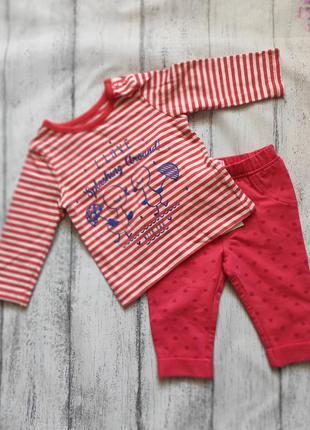 Комплект реглан кофта штаны штани 0-3 месяца nutmeg m&co