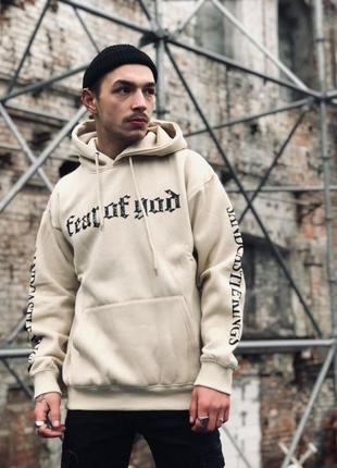 Худи fear of god sand