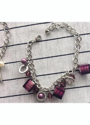 Набір, комплект браслетов, украшения, прикраса, лот, 2 браслеты.