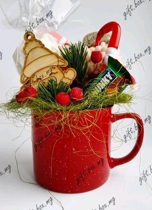 Подарочный набор в чашке чашка новогодние чашки