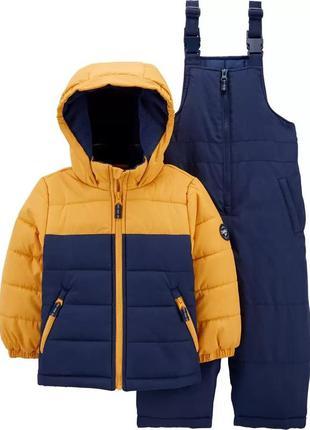 Зимовий дитячий комплект - куртка і напівкомбінезон ошкош для ...