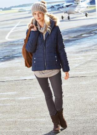 Стильная, теплая стеганая куртка от blue motion.евро зима. про...