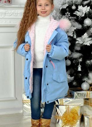 Парка детская для девочки (с мехом , зима)