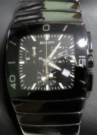 Солидные мужские часы Rado Sintra Chronograph кварц бу