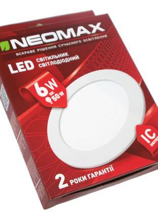 Светодиодный светильник круглый встраиваемый 6 Вт NEOMAX LED