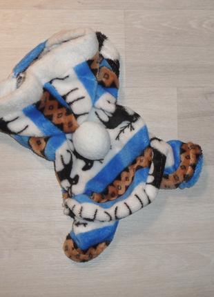 Махровый комбинезон с капюшоном.Одежда для собак