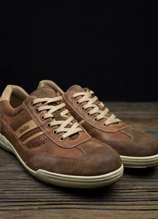 Мужские кожаные кроссовки gallus оригинал р-42