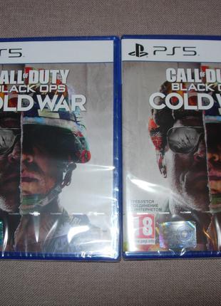 """Call of Duty Black Ops Cold War"" для PS5. Новые русские Диски"