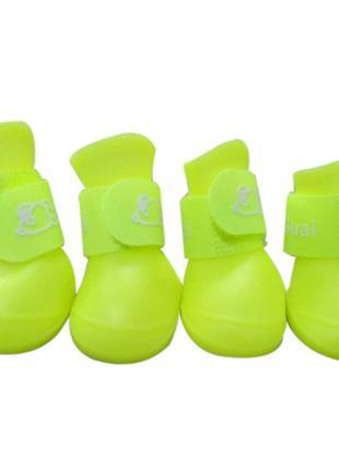 Резиновые сапожки размер М. Обувь для собак