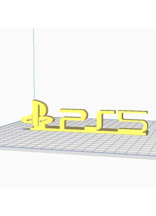 Обьемное Лого playstation 5 ps5 (Доступны Любые Размеры) Декор