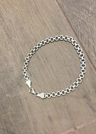 Серебряный браслет длина 20,5 см 6 грамм