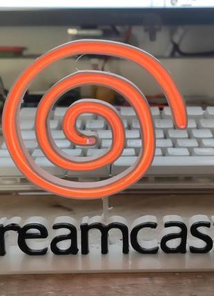 Обьемное Лого sega dreamcast (Доступны Любые Размеры) Декор