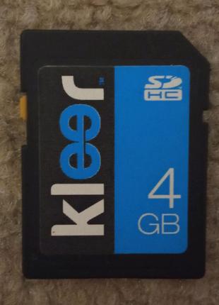 Карта памяти Kleer SDHC 4GB