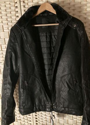 Кожаная демисезонная куртка, косуха р.L, бренд SORBINO (Италия)