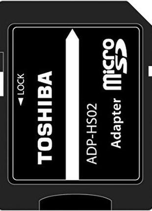 Adapter micro SD, переходник с micro sd на SD, картридер Toshiba