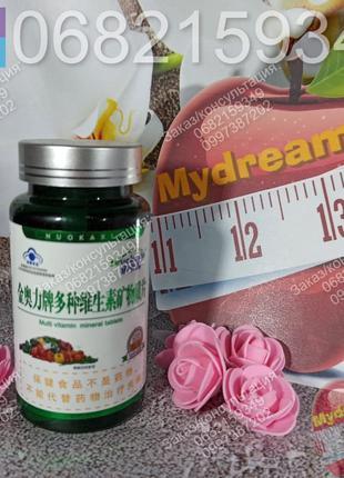 Комплекс мультивитамины минералы от Nuokaxin, 60 капс