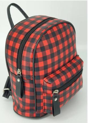 Удобный рюкзак мини (клетка)