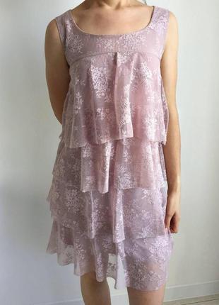 Платье, пляття, пудровое пллатье, светло розовое платье.