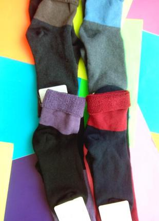 Носки женские махровые клевер украина с отворотами