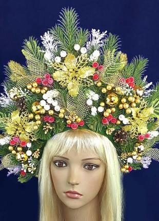 Карнавальный аксессуар лесная фея кокошник корона