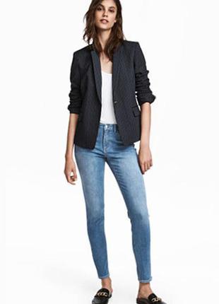 Джинсы skinny low jeans h&m