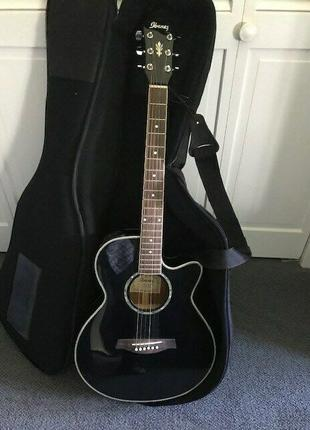 Электроакустическая гитара Ibanez aeg10e (bk)