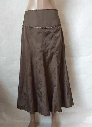 """Новая юбка в пол годе/длиная юбка в цвете """"шоколад"""" с леопардо..."""