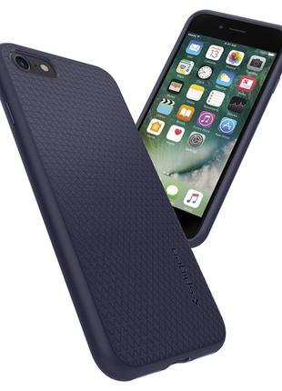 Чехол Spigen для iPhone SE 2 2020/8/7 Liquid Air Midnight Blue