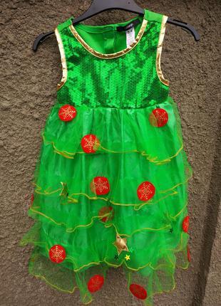 Платье ёлочки , карнавальный костюм,новогодний костюм george н...