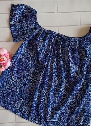 Блуза primark blue, топ с рукавами