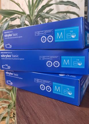 Перчатки Nitrylex 100 шт. Розмір М