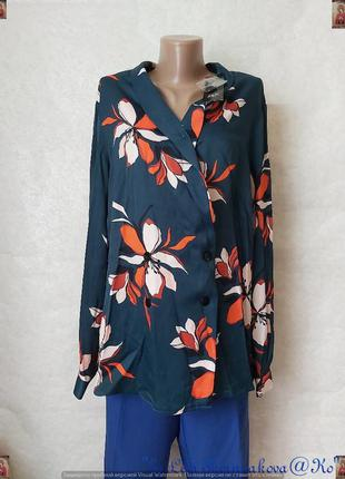 """Фирменная f&f блуза со 100 % вискозы в цвете """"бутылка"""" на пуго..."""