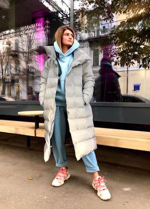 Зимняя длинная куртка длинный пуховик