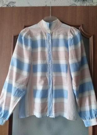 Julien paris (3)  коттоновая блуза с пышными рукавами