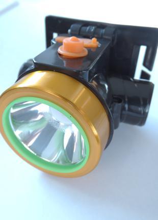 Налобный фонарик с аккумулятором и зарядкой